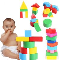 Wholesale 1 Set Baby Kids Wooden Learning Educational Toy montessori Geometry Block Early Toys Hot Selling