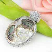 antique shell cameo - Half Dozen Crystal Oval Natural Cameo Shell Gemstone Antique Sterling Silver USA Israel Wedding Pendant Weddings Jewelry
