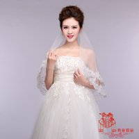 bead importers - High end European and American minimalist veil Lei Sijia drilled meters wedding bridal veil wedding veil wedding white Importers HY00179