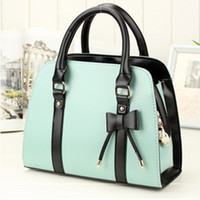 Wholesale Cheap Products candy color block handbag shaping one shoulder cross body white women s handbag women s bags