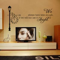 Wholesale Self Adhesive Wall Time - English word home decor creative quote wall decals bedroom living room decorative adesivo de parede removable vinyl We have time stickers