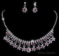 Indian Fashion Bijoux Collier Cristal Boucles d'oreilles mariée ensembles de bijoux pour Brides Parti Accessoires décoration de mariage