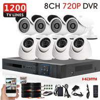 Cheap Sony HD 1200TVL Surveillance CCTV System 8CH 720p 960H CCTV DVR IR security Cameras System with IR CUT HDMI 1080P+free shipping