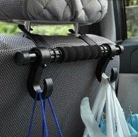 Wholesale QP039 universal car back seat organizer headrest luggage bag holder hook hanger car seat back sundries long design double hook