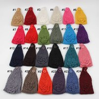 Wholesale Fashion Womens Adult Lady kid s Crochet Winter Autumn Knit Headbands Warm Hoop Wide Plait Headbands ear warmer Wool Stretch Hair Bands D688J