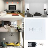 Wholesale White Black Crystal Glass Switch Panel UK Standard VL C702 AC V Wall Light Touch Screen Switch Gang order lt no track