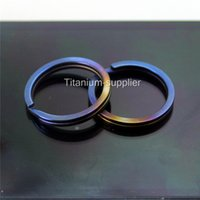 anodized s - Titanium Ti Key Chain Key Ring Split Ring Size S mm Anodized Blue