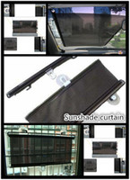 Wholesale Fashion Black Car Sunshades Universal Retractable Car Side Window Shades for Sheltering Sunshine x125cm Size PVC Material