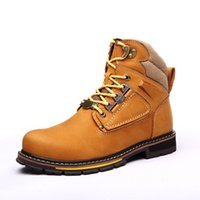 western cowboy boots - Leather fashion Martin boots outdoor leisure shoes in tooling big shoes to help men boots big yards