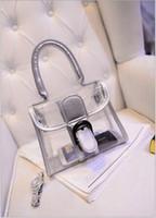 Wholesale Newest Women s fashion Jelly Purse Clear Transparent Summer Beach Totes Shopper Beach Shoulder Bag Handbag LB51