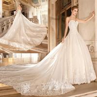 empire line dress - Vestido De Noiva Renda Vintage Lace Strapless Wedding Dress With Removable Skirt Bridal Dresses Ball Gown Chapel Train