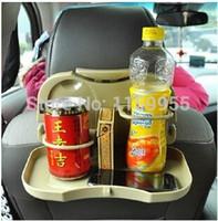 Wholesale Car Seat Multi Tray mount Food table meal Desk Stand Drink Cup Holder car back seat bracket storage shelves