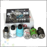 Wholesale New Version Mutation X V4 Atomizers Authentic Mutation X V4 RDA Clone Rebuildable Atomizer With Wide Bore Driptips Airflow Control DHL Free