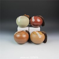 antique tea caddy - On sale Ceramic tea set storage sealed cans antique pot Caddy freeshipping