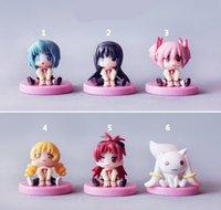 Wholesale set Brand New Q Version Puella Magi Madoka Magica cm PVC Cartoon Figure Model Toy For Gift Kids Collection