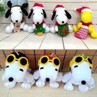 air doll - New Plush Snoopy doll children Christmas gift Cartoon plush toys quot Snoopy Christmas dolls and Snoopy air force two styles