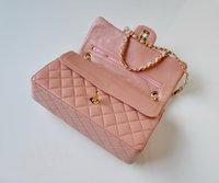Wholesale CC Series Classic Flap Bag Lambskin Leather Quilted Chain Shoulder Bag Women s Double Flaps Bag