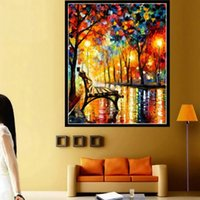 other home kit - Diamond Painting Round Rhinestone Cross Stitch Kit D DIY Diamond Embroidery Scenic Impressionist for Home Decoration YSH