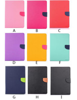 Wholesale Mercury Fancy Diary Wallet Stand Smart Leather Case With Card Slots Money Pocket for iPad mini Air Pro
