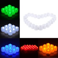 Wholesale 3 cm High Quality LED Flameless Candle Set for Wedding Party Valentine Events Five Colors for Your Choice