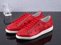 Wholesale New MCM Visetos Fashion red Urban Nomad High Fashion Sneakers Shoe Men or Women Casual Shoe Lovers Sneakers size