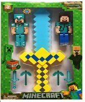 weapon - Minecraft pieces cm Minecraft Doll Both dolls have optical audio cm weapon weapon glows vocal Two models mix
