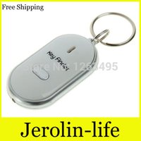 Wholesale Key Finder Locator Find Whistle Sound Control LED Light Key Finder Locator Find Lost Key Chain Keychain