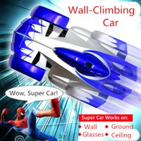Wholesale 2015 hot sale wall climbing car wireless remote control car glass walls climbing Electric toy car with flashing light A013050