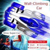 big car system - 2015 hot sale wall climbing car wireless remote control car glass walls climbing Electric toy car with flashing light A013050