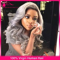 Cheap grey ombre hair wig Best dark root ombre hair wigs