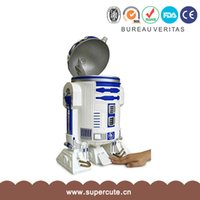 Wholesale Creative home Waste Bins office trash can movie Star Wars foot touch trash can