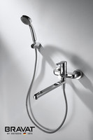 shower mixer - Single Handle Wall Mounted Bath Shower Mixer Long Spout with Shower Set