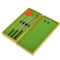 aluminum golf clubs - Aluminum Alloy Golf Pen Set Creative Golfers Ballpoint Golf Pens Club