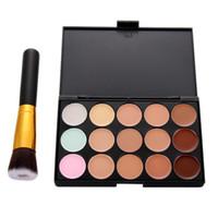 Wholesale New Arrivals Colors Contour Face Cream Makeup Palette Foundation Liquid Brush Women Makeup Set High Quality