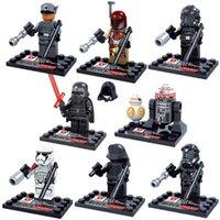 Wholesale 8pcs Star Wars The Force Awakens Moive Star War Kid Baby Toy Mini Figure Building Blocks Sets Model Toys Minifigures Brick