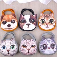 animal shaped handbag - 2016 New Designed Female Retro Cartoon D Animal Printing Shoulder Bags Cat Dog Shape Women Handbag Tote Bags Hot Sale Bags