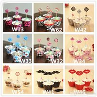 Wholesale Hot Sale Party Decorations Event Cupcake Wrappers Spiderman Iron Man Transformers CupCake Toppers Picks Kids Birthday Supplies Party Favors