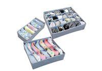 Wholesale 3 pieces a Set Foldable Box Bamboo Charcoal Fibre Storage Box For Bra Underwear Necktie Socks DHL sets
