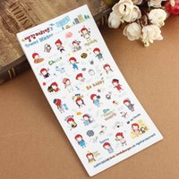 best photo books - set Best Price Cute Girl Travel Diary Stickers Scrapbook Decoration Photo Fit For Books Gift Color Randomly