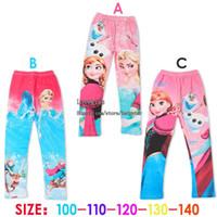 Wholesale Frozen Kids Leggings Tights Spring Autumn Girl Dress Skinny Pants Girls Tights Children Clothes Kids Clothing Children Leggings Tights