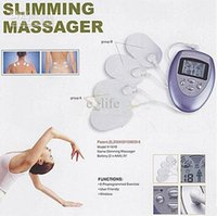 electric massage vibrator venda por atacado-Full Body Massager Modos de massagem Full Body Slimming Muscle Massager Pulse Pulse Relax 4 Vibração NoBAMD Sex Toys Vibrator Female Massage