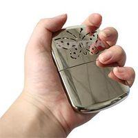 Wholesale 2015 New Fashion Brand Aluminum Portable Ultralight hand warmer Pocket HandWarmer