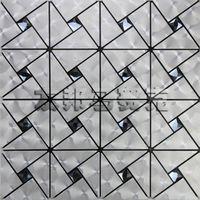 aluminum facade panels - AIA metal aluminum composite panel mosaic hyun silver triangle pattern Black Diamond Self adhesive backdrop facade