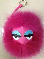 Wholesale Cheap Fashion Monster fur hairs handbag Charm goat fur Keychain Fashion