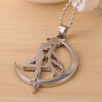 alloy animation - Sailor Moon Zinc Alloy Silver Colors Pendant necklaces Animation Jewelry for women fashion jewelry