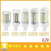 CE UL CSA G9 Ampoules LED haute puissance 5W 7W 9W 12W 18W 20W Led maïs Lumières SMD 5730 AC 110-240V