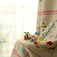 Wholesale Top High good quality Baby Children Cartoon curtain shade cloth finished product child curtain kid room