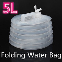 Wholesale 5L Folding Water Bag Carrier Container Collapsible Caravan Camping Hiking Non toxic Folds Flat For Easy Storage