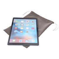apple ipad tablet size - 25 cm General inch Big size Soft Cotton Bags Pouch For Ipad Pro Samsung Galaxy tab Tablet PC Lanyard Strap Cloth Pull Tab Chain Bag