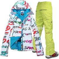 Wholesale new Combination women s ski suit windproof waterproof ski jacket pants three style winter ski suit color